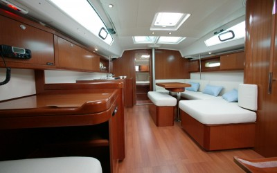 Our school yacht, Night Owl, Interior