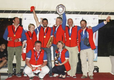 We organise everything, from racing to the award ceremony. These are the winners of a team regatta in Croatia, 2014