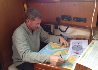 One of our students preparing a passage plan
